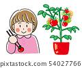 여자와 토마토 54027766