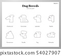 Dog breeds icons Line pack 54027907