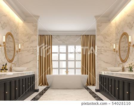 Luxury bathroom 3d render 54028110