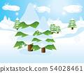 Fir trees on slope 54028461