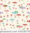 버섯 원활한 패턴. 귀여운 버섯의 벽지. 54028578