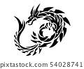 트 라이벌 드래곤. 스티커 디자인. 54028741