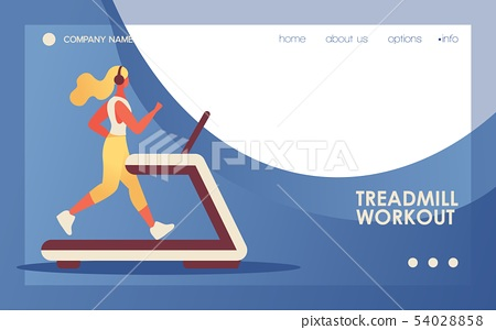 Vector concept banner with young flat woman 54028858