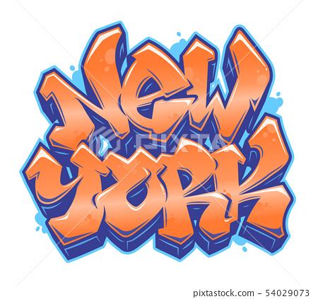 New York graffiti style lettering 54029073