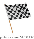 Chequered flag, 3D rendering 54031132