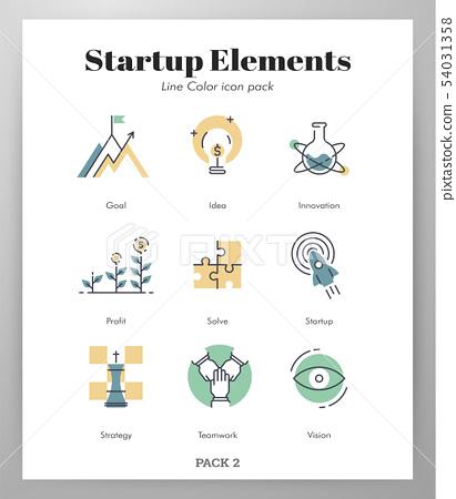 Start up elements LineColor pack 54031358