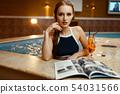 woman, pool, female 54031566