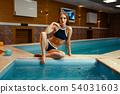 woman, pool, female 54031603