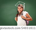 Young Hispanic Student Girl Wearing Backpack Front 54031611