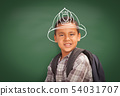 Young Hispanic Student Boy Wearing Backpack Front 54031707