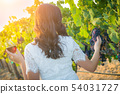 Young Adult Woman Enjoying Glass of Wine Tasting 54031727