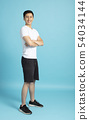 Full length portrait of young  athlete man 54034144