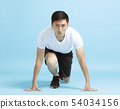 young man Runner in starting position 54034156