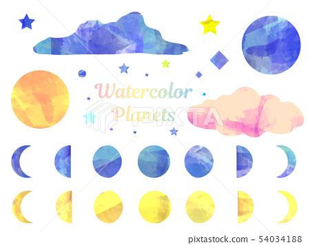 水彩天體 54034188