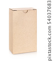 kraft paper box isolated on white background 54037683