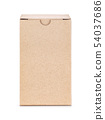 kraft paper box isolated on white background 54037686
