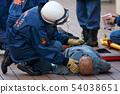구조 마네킹을 사용한 AED에 의한 응급 구조 훈련 54038651