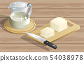 tofu and tofu milk on the wooden table 54038978
