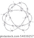 Barbed Wire Illustration 54039257