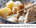 Oden served on a plate 54040751