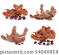 Tamarind fruit on a white background 54040858