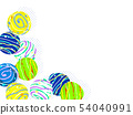 Illustration background of water balloons 54040991