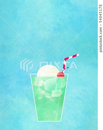 배경 - 여름 - 크림 소다 - 블루 54045178