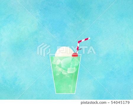 배경 - 여름 - 크림 소다 - 블루 54045179