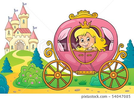 Princess in carriage theme image 3 54047085