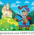 Knight on horse theme image 4 54047120