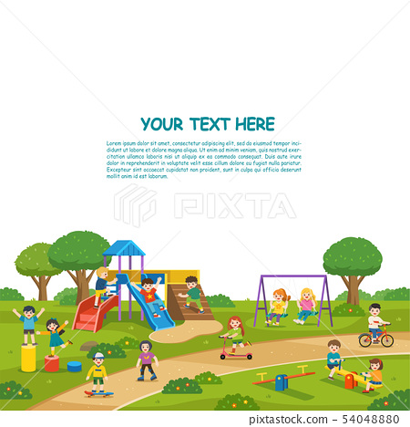 Happy Children play outside. 54048880