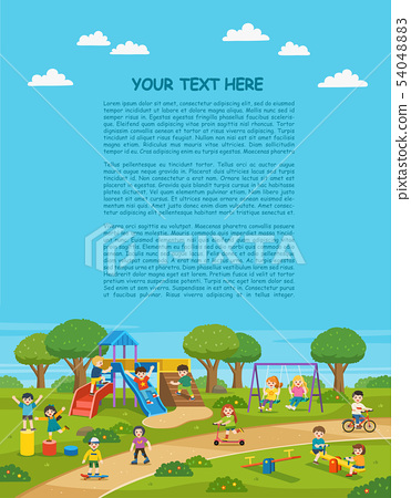Happy Children play outside. 54048883