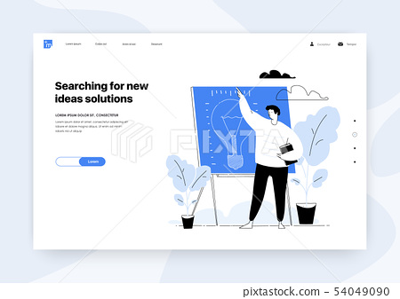 Presentation of the new project Searching for new ideas solutions Vector illustration Design concept 54049090