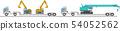 공사 차량과 캐리어 자동차 54052562