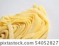 意大利細麵條Fitchuccine新鮮的意大利麵粉麵條意大利白背食物食物 54052827