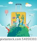 旅行 路标 飞机 54056303