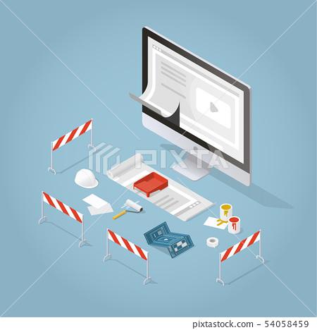 Isometric Concept Main Page Website Development 54058459