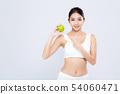 苹果 水果 女人 54060471