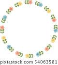 복고풍 꽃의 링 프레임 54063581