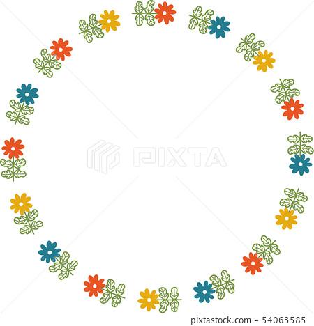 복고풍 꽃의 링 프레임 54063585