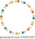 복고풍 꽃의 링 프레임 54063587