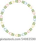 복고풍 꽃의 링 프레임 54063590