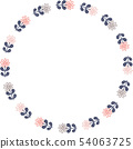복고풍 꽃의 링 프레임 54063725
