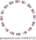 복고풍 꽃의 링 프레임 54063732
