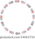 복고풍 꽃의 링 프레임 54063734
