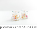 close up of jars with marshmallows 54064330
