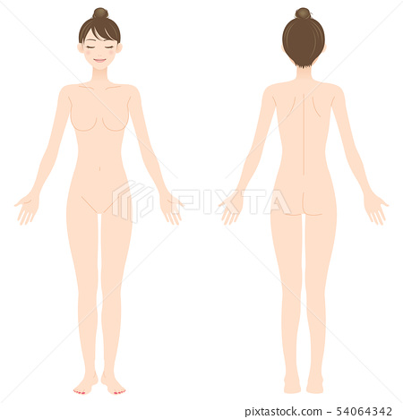 여성 알몸 전신 미용 54064342