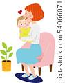 엄마와 아기 소파에 좋아 좋아 54066071