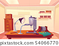 Jeweler workplace with work tools cartoon vector 54066770