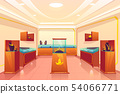 Jewelery store with precious goods vector interior 54066771